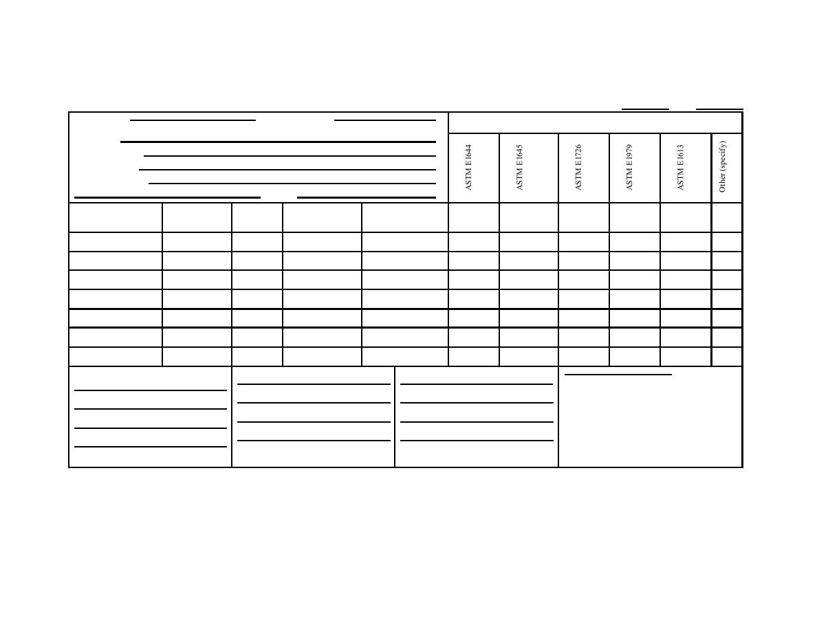 Figure B-4: Example Chain of Custody Form